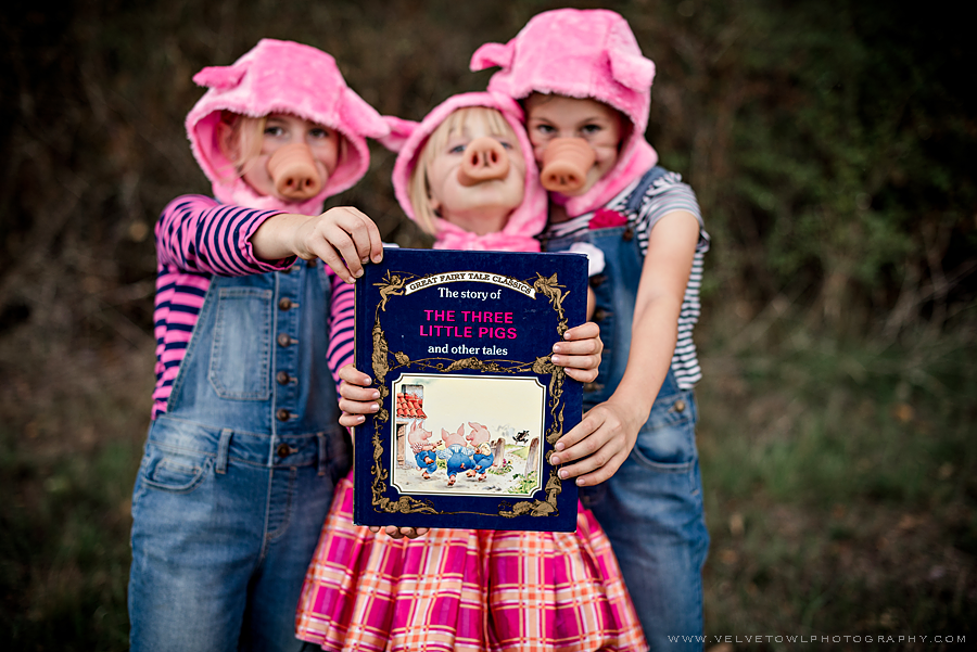 The Three Little Pigs Halloween Costume Kids Fairy Tale Story